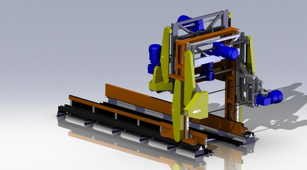 Резка массива газобетона 3D-модель и чертежи