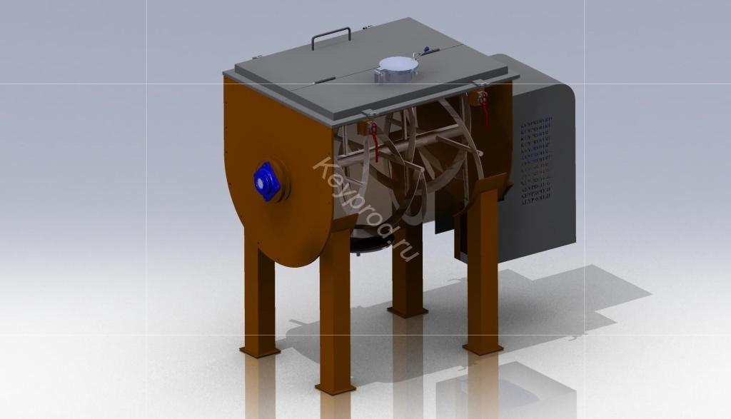 Смеситель ССЛ 01 3D-модель и чертежи