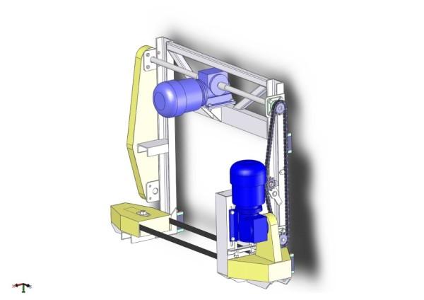 Каретка вертикальной резки автоматического резательного комплекса