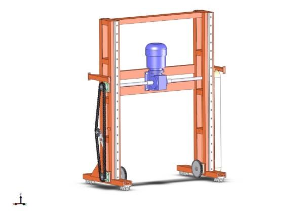 Портал автоматизированного резательного комплекса