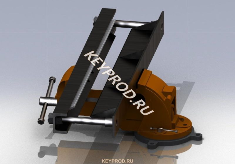Листогиб из тисков чертежи 3D-модель