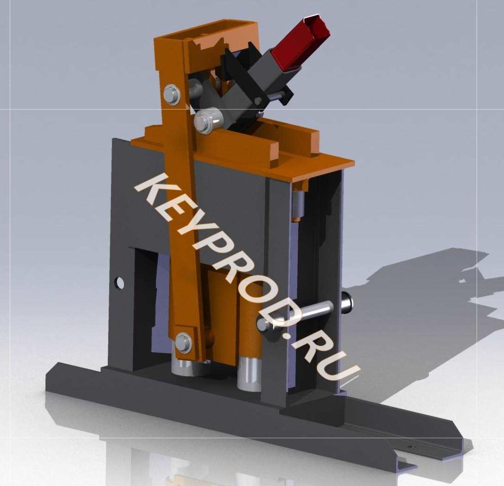 Пресс ручной для производства кирпичей
