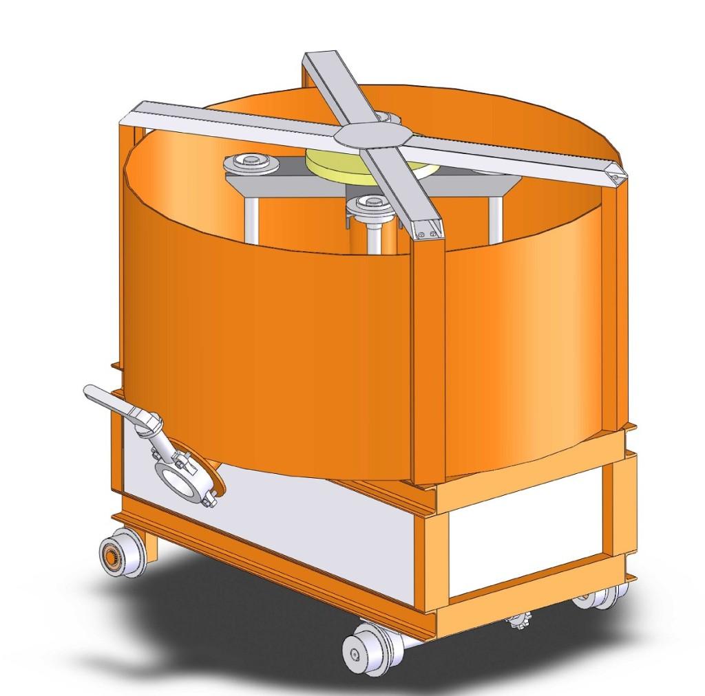 смеситель передвижной 3D-модель