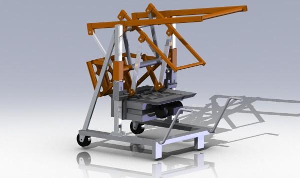 Чертежи рычажного вибропресса для производства блоков 3D-модель