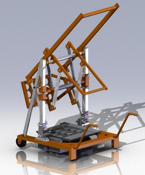 Чертежи рычажного вибропресса для производства блоков чертежи 3D-модель скачать