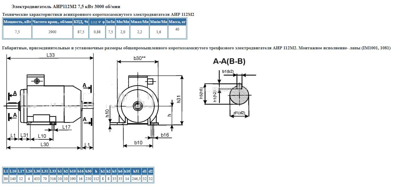 Электродвигатель АИР112М