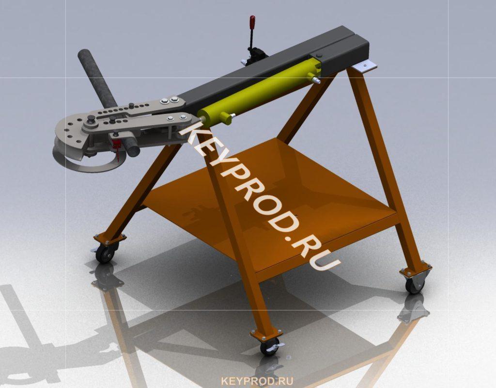Трубогиб гидравлический 3D-модель чертежи