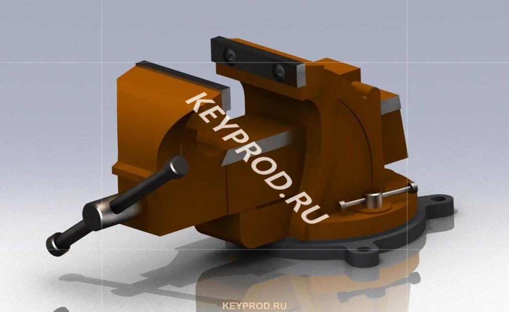 Тиски Т1 3d-модель