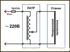 Электрическая схема источника электропитания №1