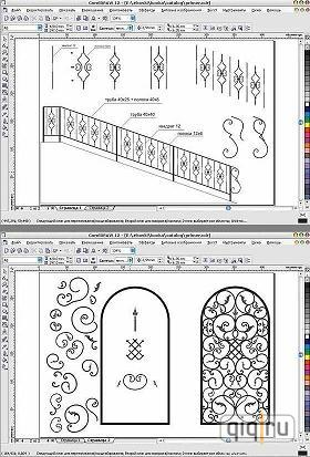 Каталог специальных векторных эскизов изделий и элементов для художественной ковки металла