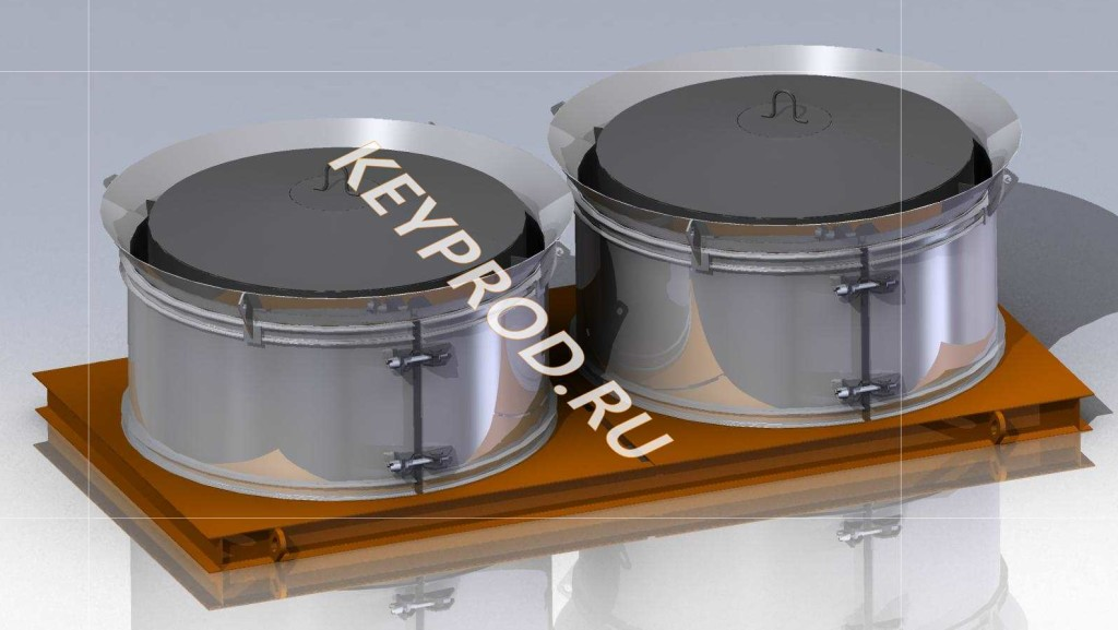 Чертежи формы для колец ЖБИ на два изделия