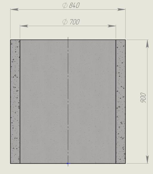 Размеры кольца бетонного КС 7х9