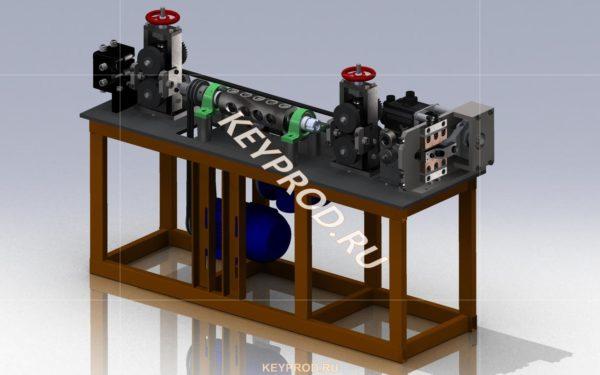Правильно-отрезной станок своими руками. 3D-модель-чертежи.Wire straightening and cutting machines