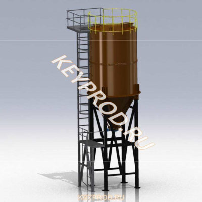 3D-модели и чертежи Силоса цемента keyprod кейпрод