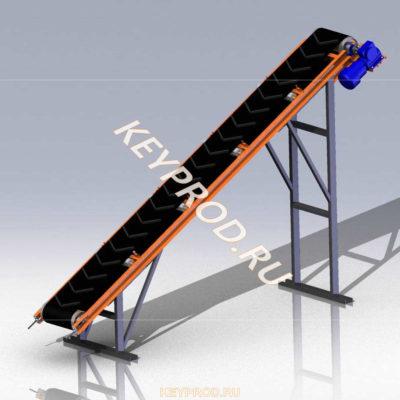3D-модели и чертежи 3D-модели и чертежи ленточных конвейеров для производства газобетона