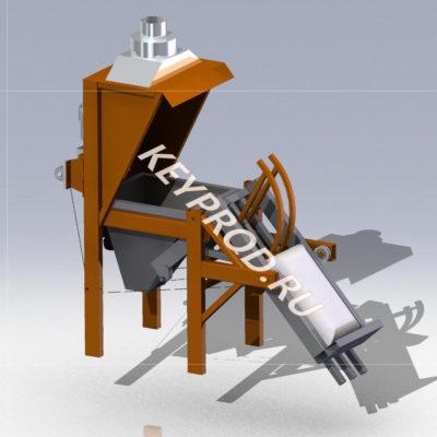 3D-модели и чертежи растаривателя цемента для мешков 50 кг