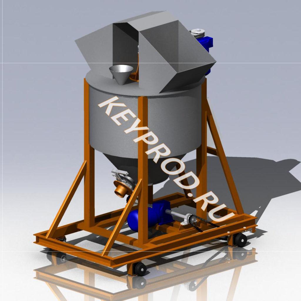 3D-модели и чертежи смесителей для производства газобетона