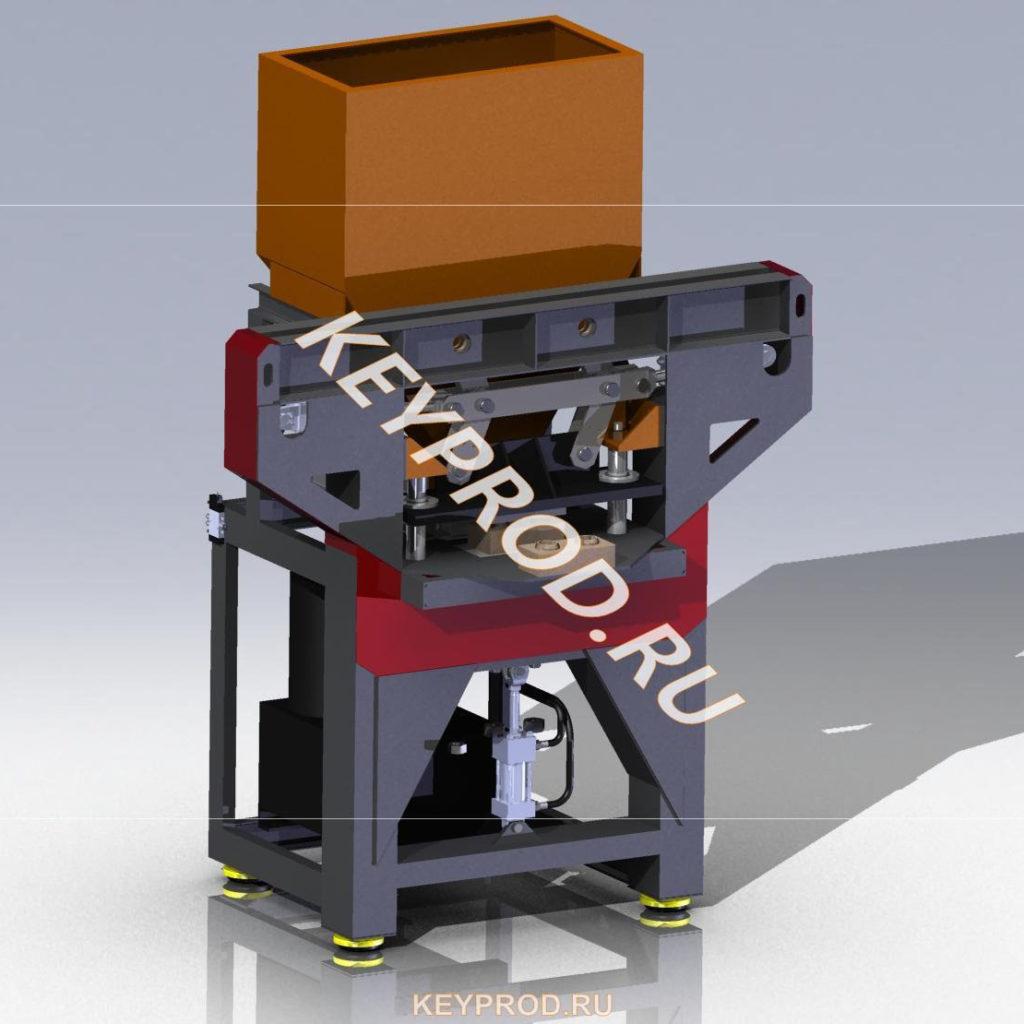 Гидравлический пресс для произ-ва lego-кирпичей