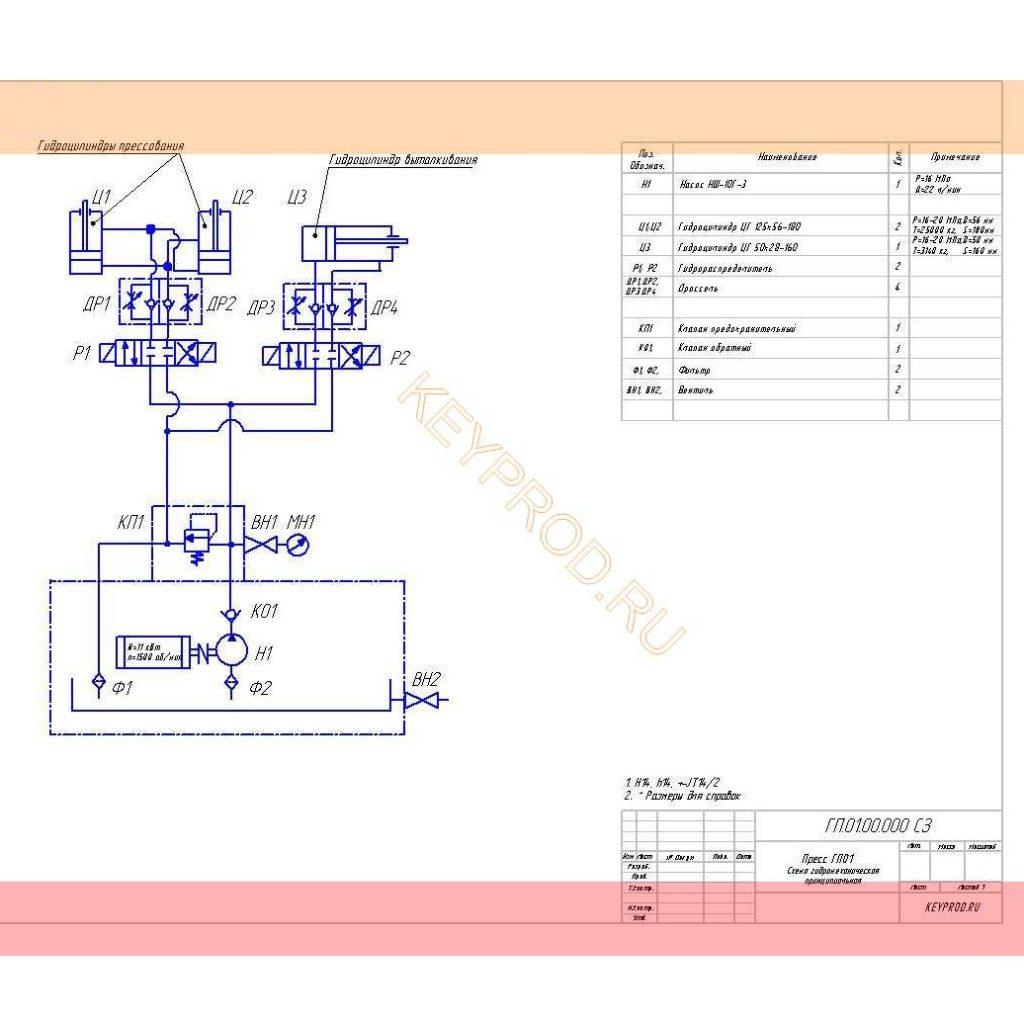 Схема-гидравлическая-принципиальная-пресса-ГП01