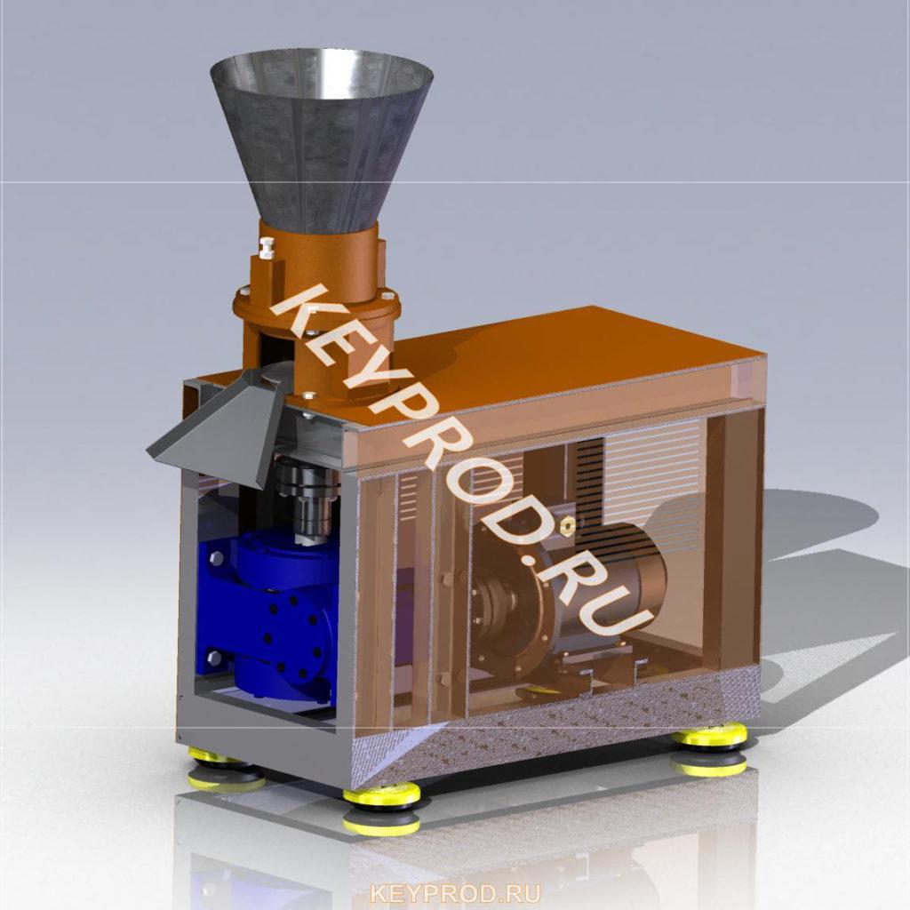 Оборудование для производства пеллет keyprod 3D-модели чертежи