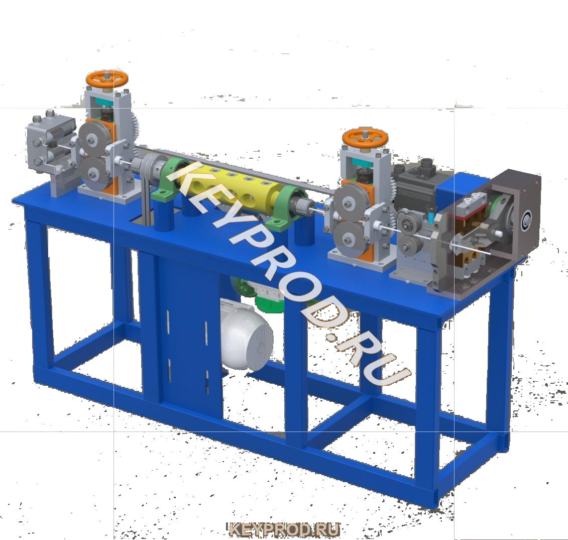 3D-модели и чертежи оборудования для обработки проволоки