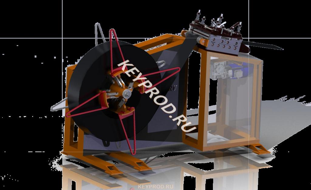 3D-модель размотка и правка полосы