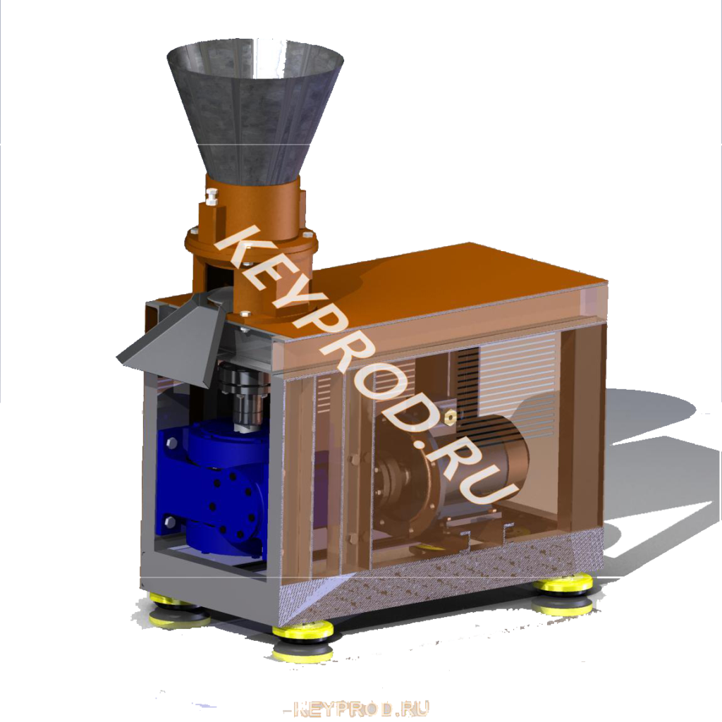 Оборудование для производства пеллет 3D-модели чертежи