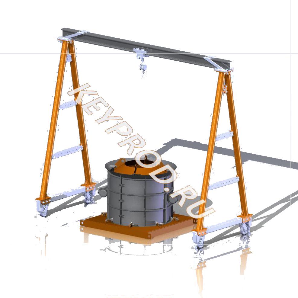 Чертежи оборудования и оснастки для производства железобетонных изделий (ЖБИ)