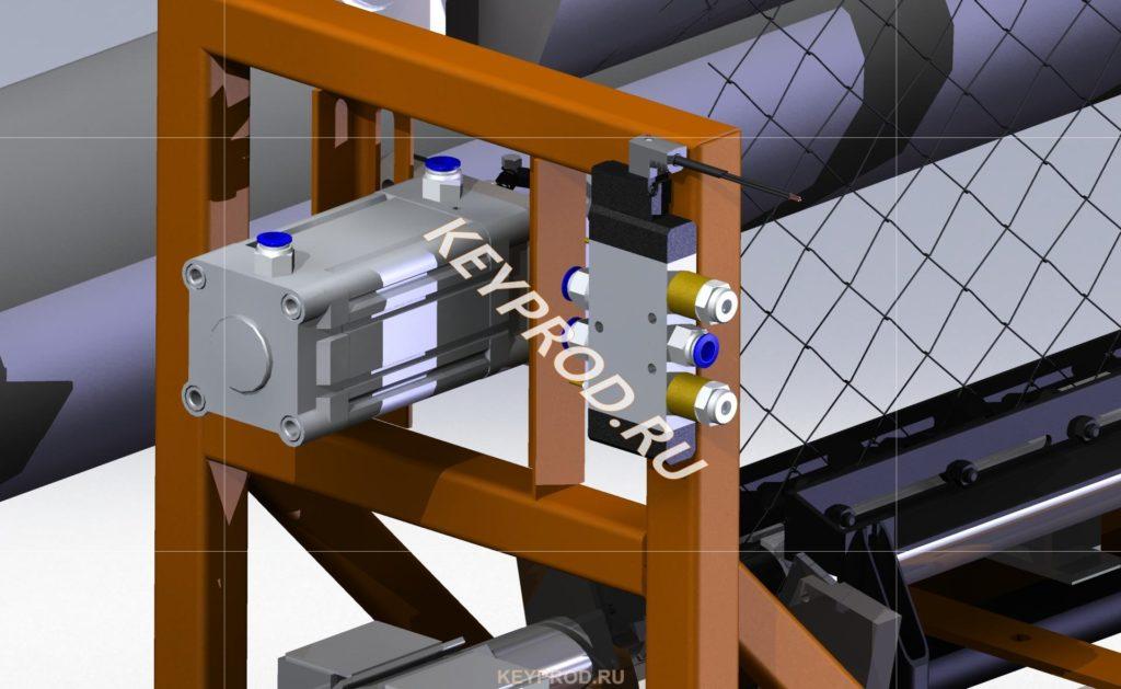 пневмораспределители станка для изготовления сетки рабица