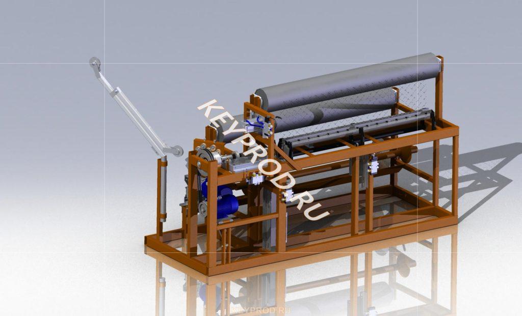 3D-модель Станок для производства сетки рабица