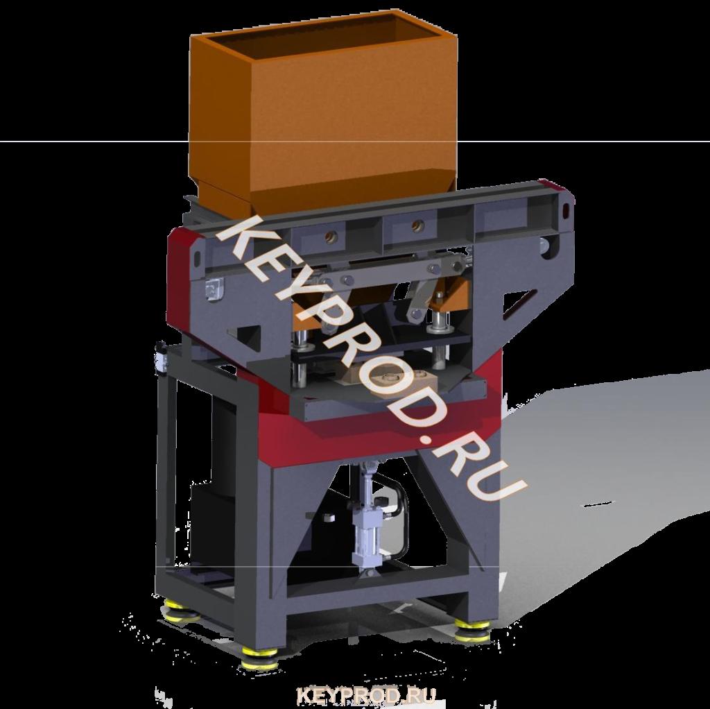 3D-модель пресса для производства лего кирпичей