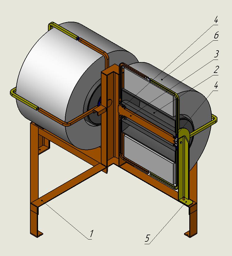 Размотчик проволоки на РПГ 02 предназначен для размотки проволоки для работы правильно-рубильного автомата. Предназначен для установки двух стандартной бухт проволоки. Расположение оси бухты-горизонтальное.