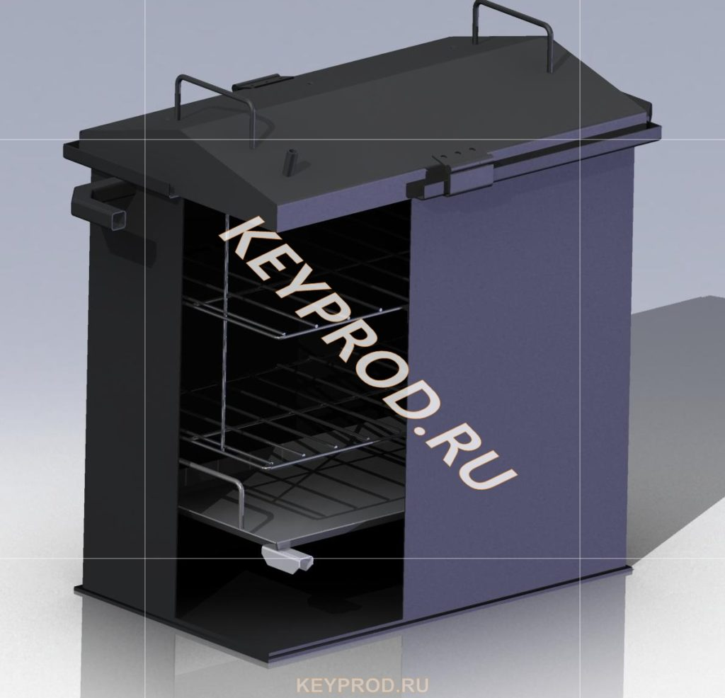 3D-модели и чертежи мангалов и каптилен