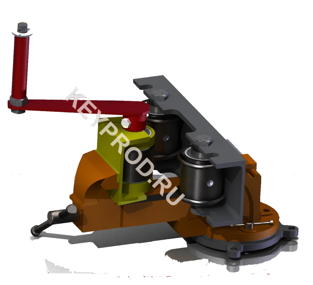 Трубогиб из тисков 3D-модель чертежи Iges stp