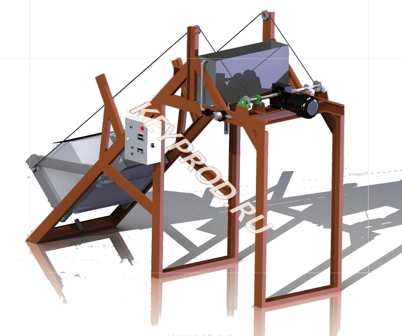 3D-модель скипового подъмника