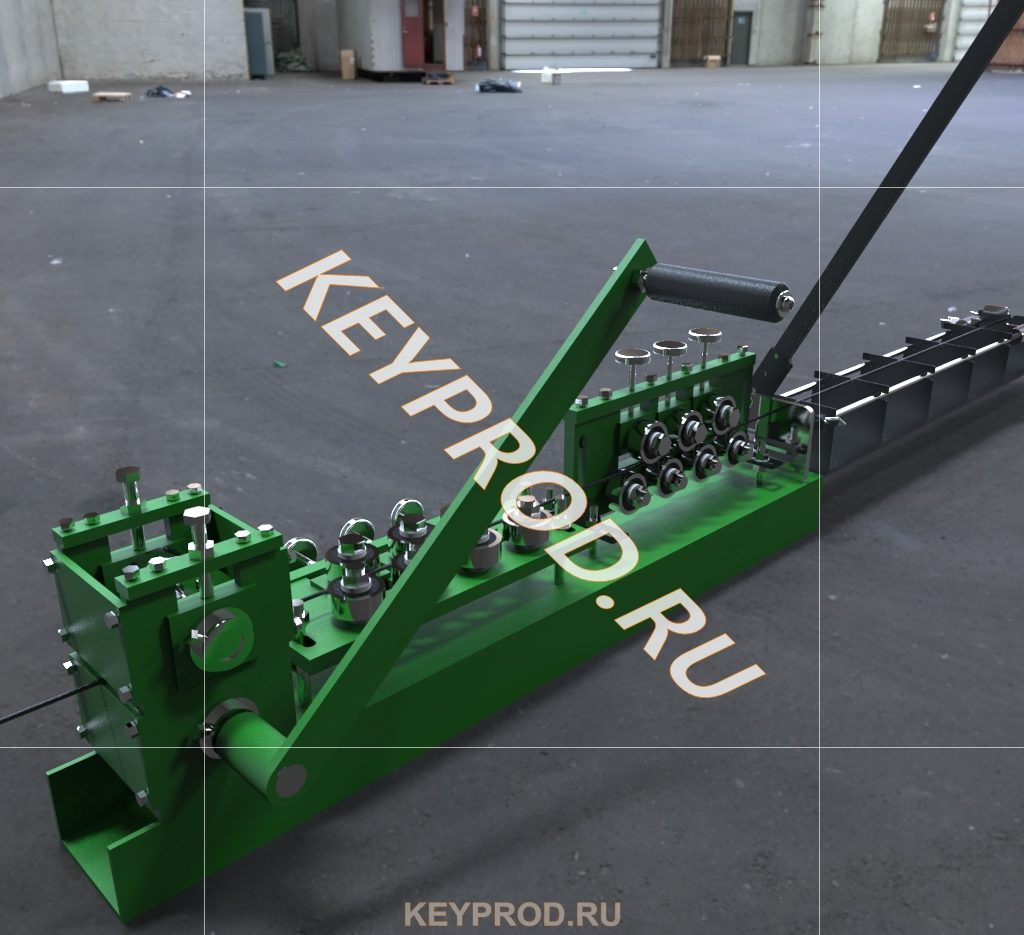 3D-правильно-отрезного станка с ручным приводом