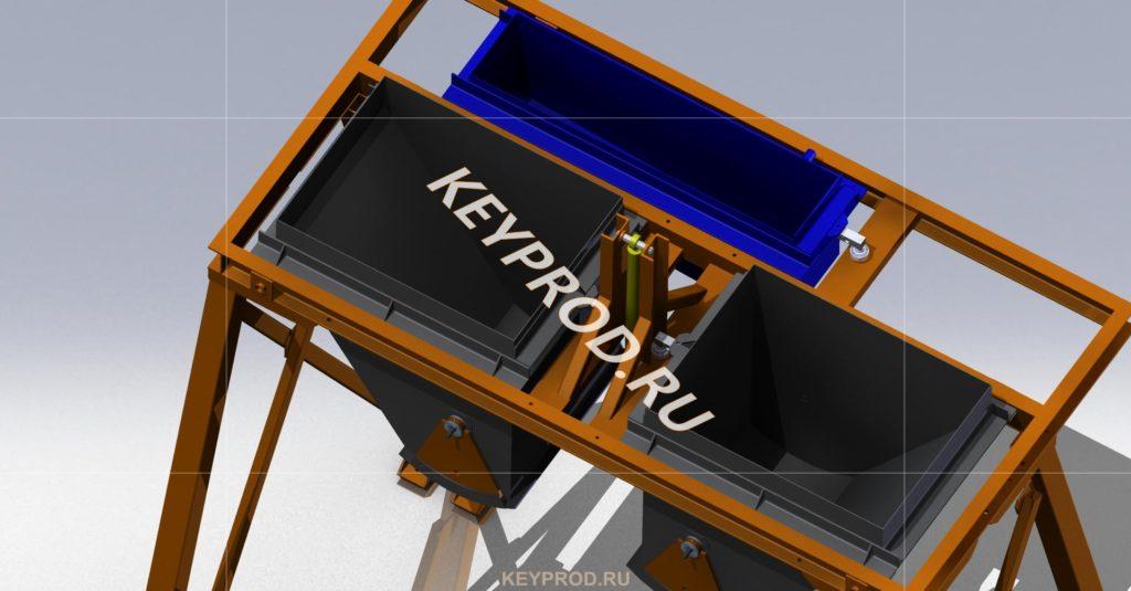 Блок весовых дозаторов 3D-модель