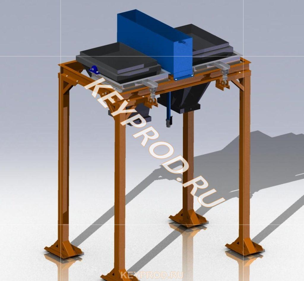 Дозатор на два компонента 3D-модель и чертежи