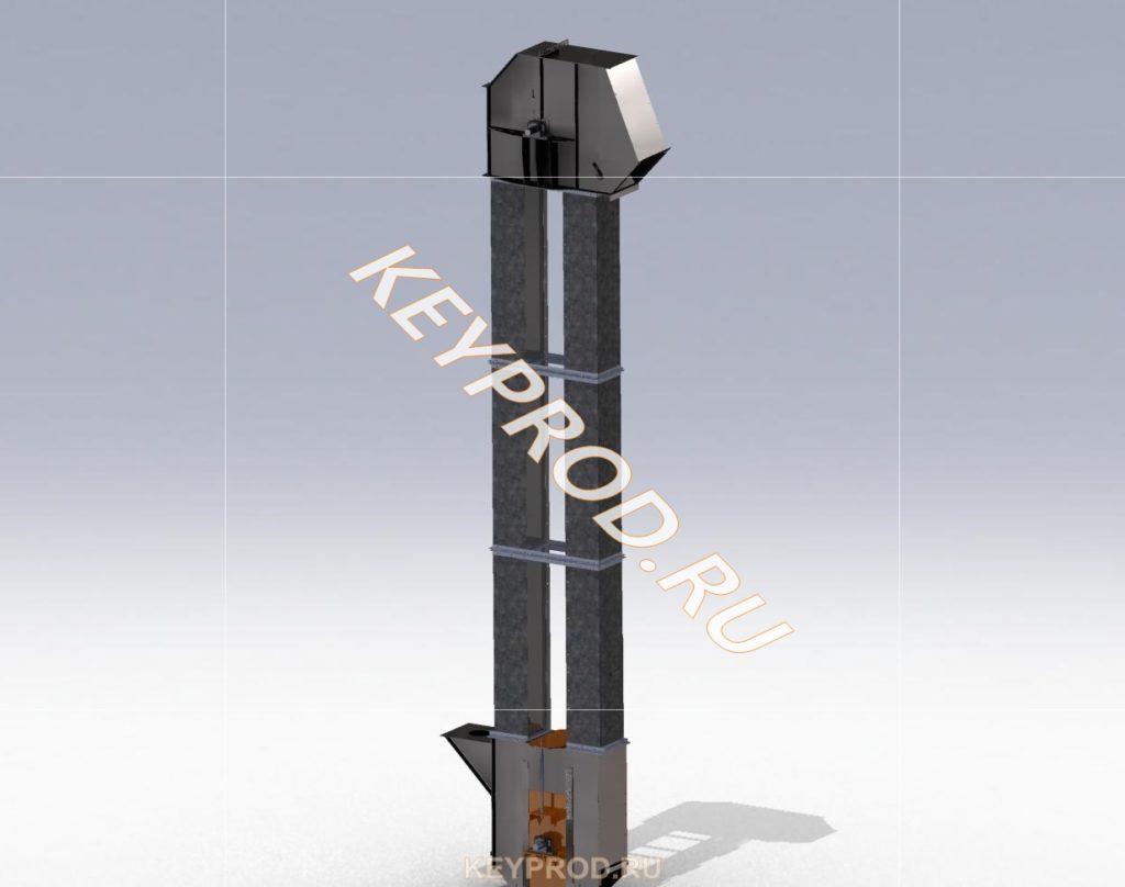 Ковшовый элеватор 3D-модель и чертежи