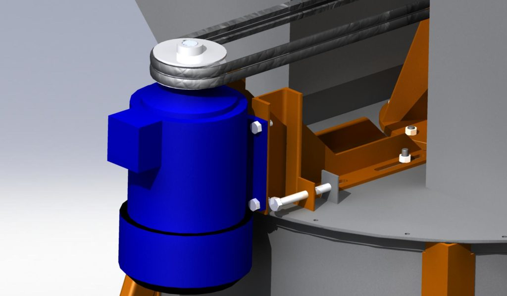 натяжка ремней смесителя для газобетона