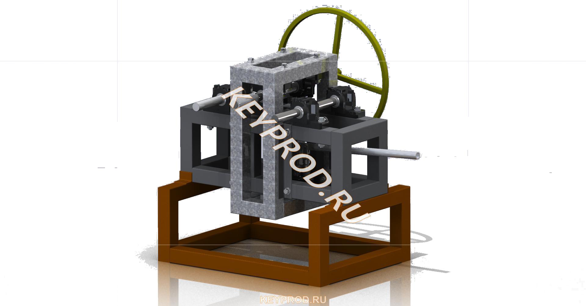 Трубогиб гидравлический ручной 3D-модель iges