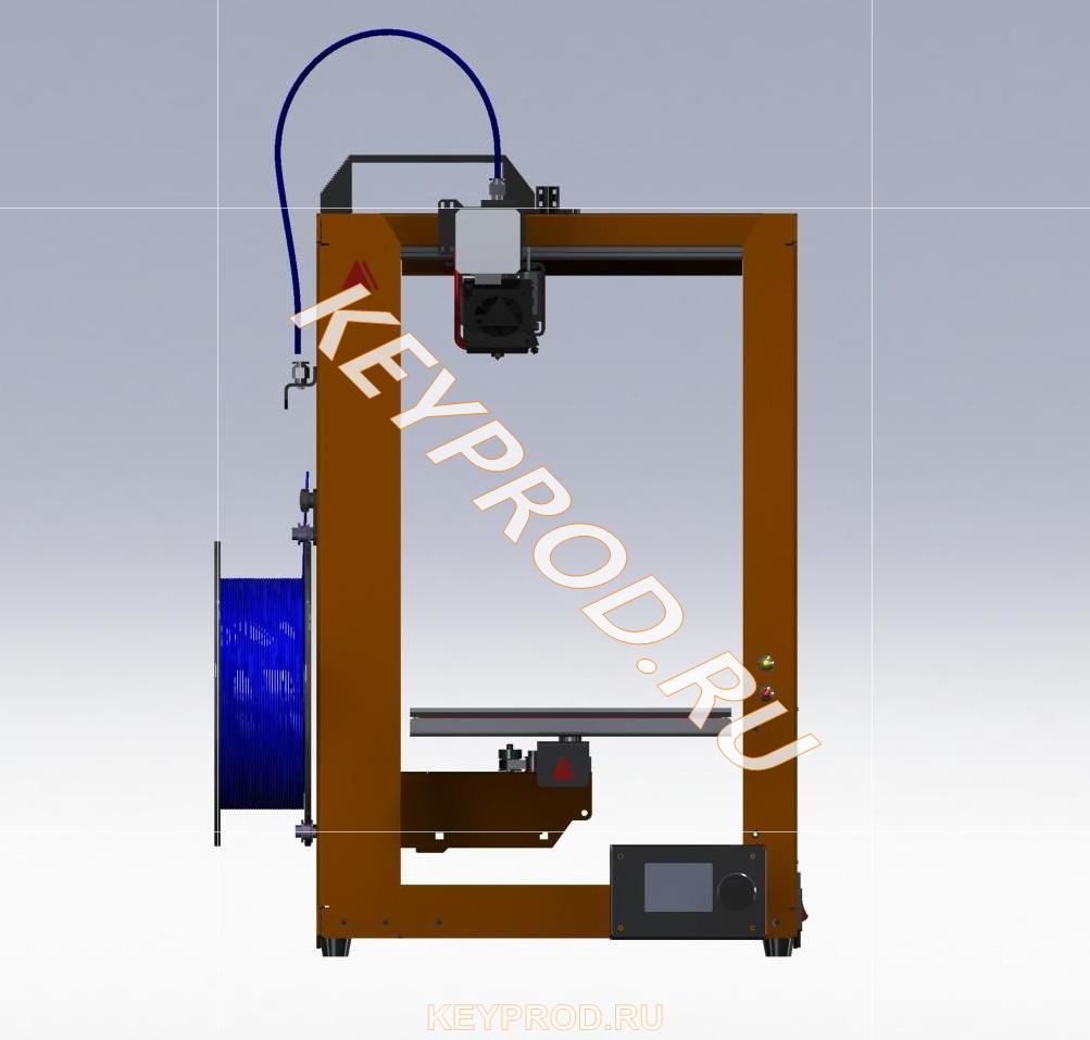 3D-принтер 3DP 01 скачать step