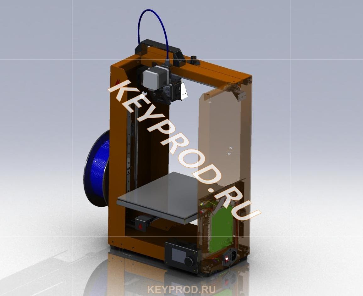 3D-принтер 3DP 01 3D-модели и чертежи скачать