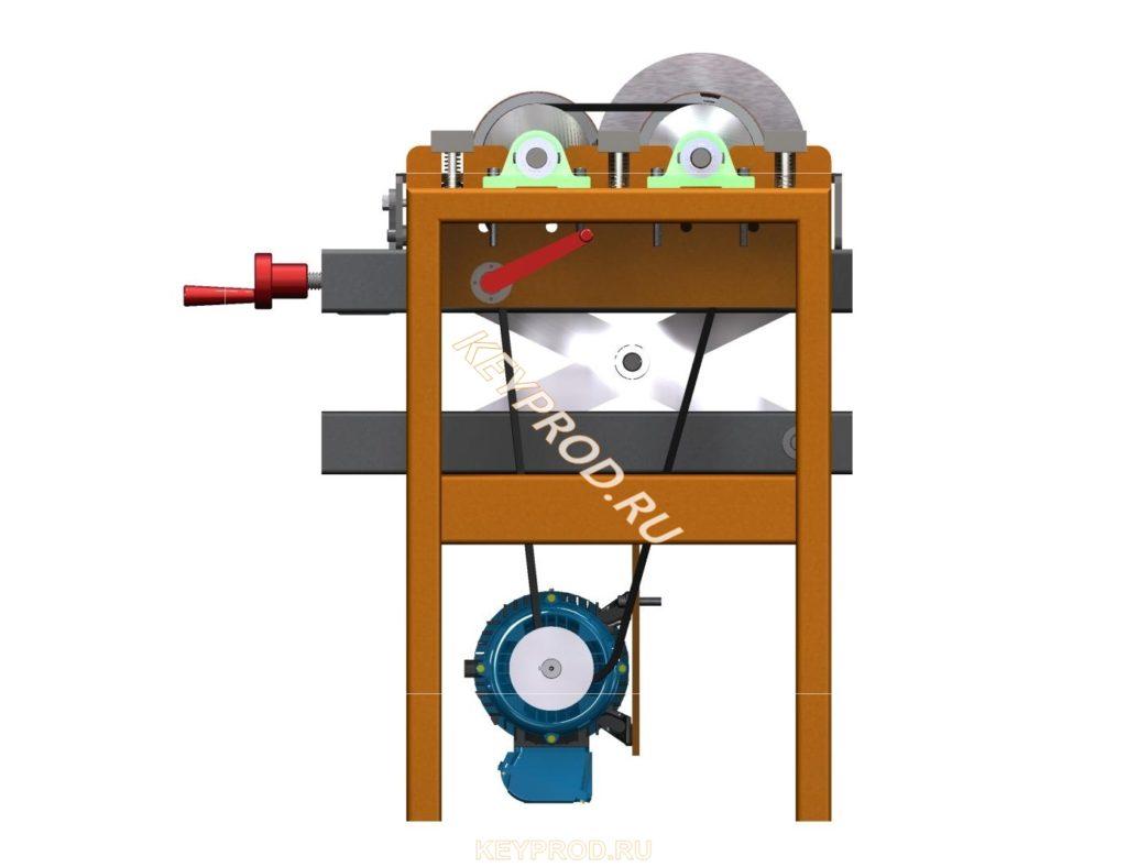 Двухбарабанный шлифовальный станок скачать 3D-модель