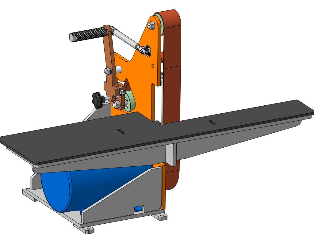 Гриндер 1200х50 (1000х50) 3D-модель