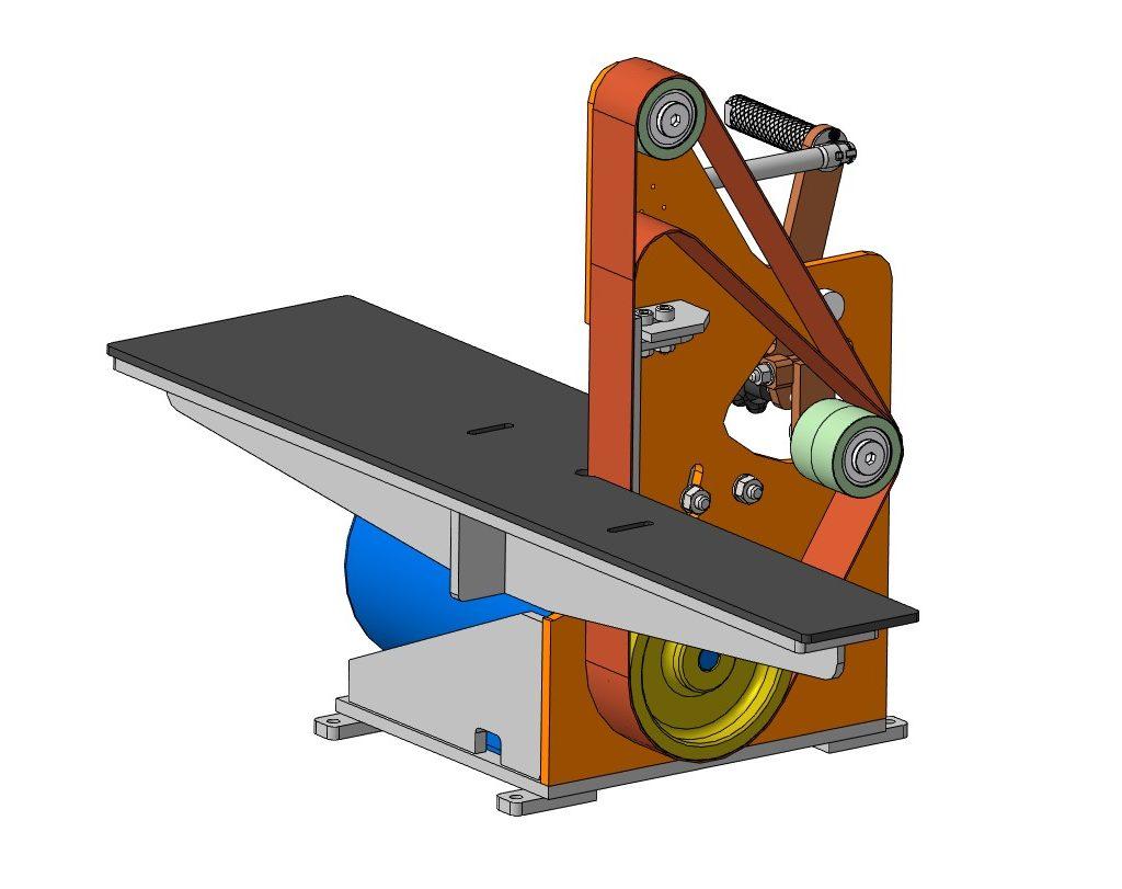 Гриндер 3D-модель чертежи скачать