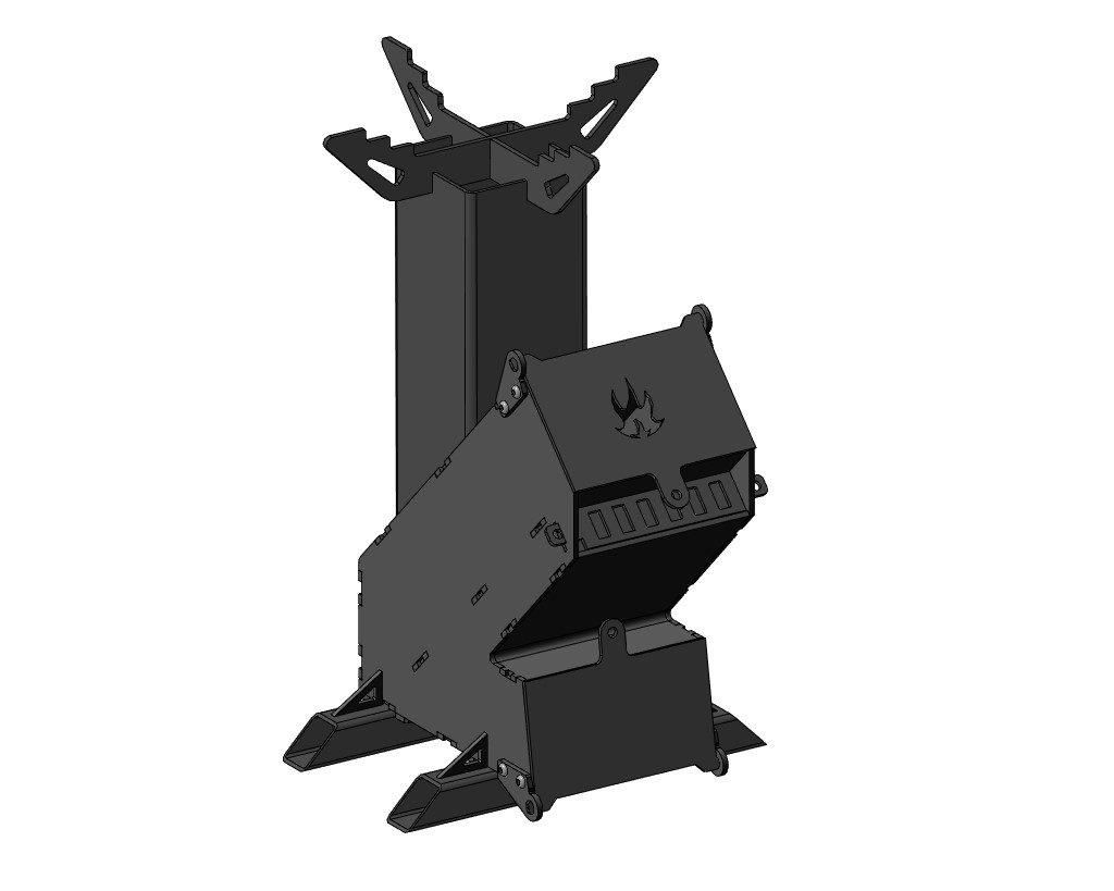 Печь ракетная 3D-модель и чертежи