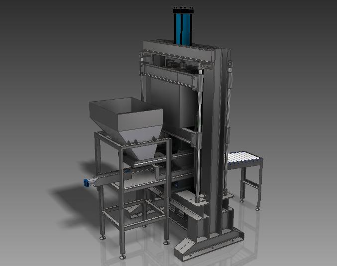 Вибропресс для производства кирпичей 3D-модель
