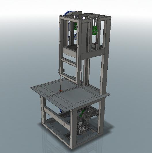 Пила ленточная 3D-модель Iges step компас 2