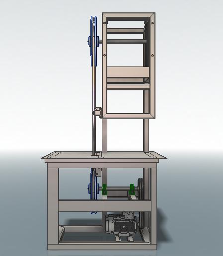 Пила ленточная 3D-модель Iges step компас 3